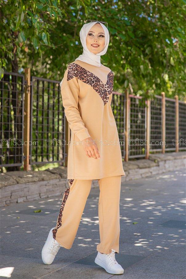Tunic Pant Leopard Beige - 6997