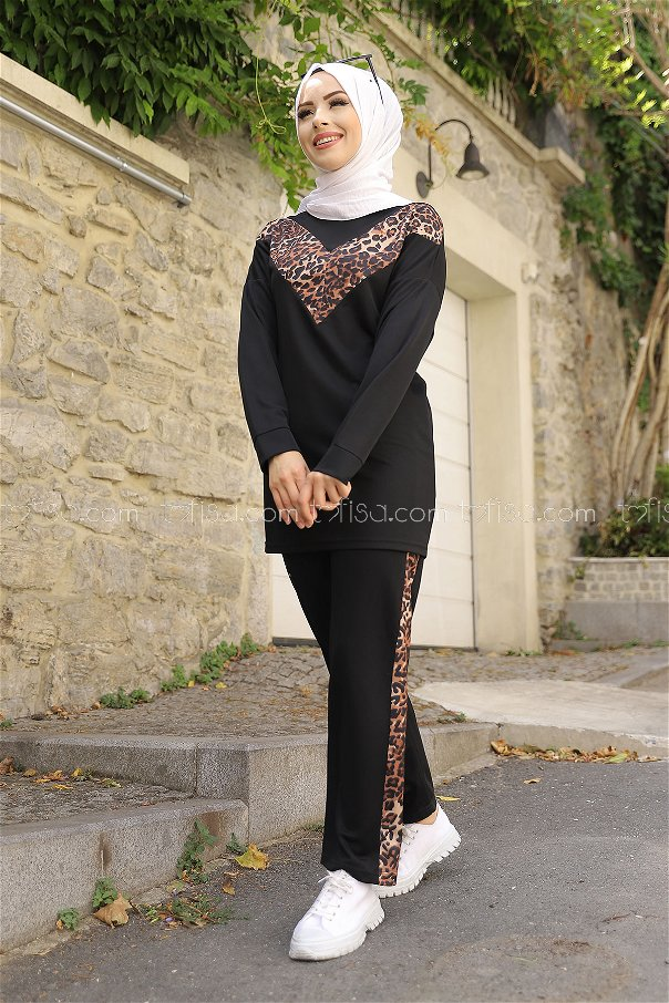 Tunic Pant Leopard Black - 02 6997
