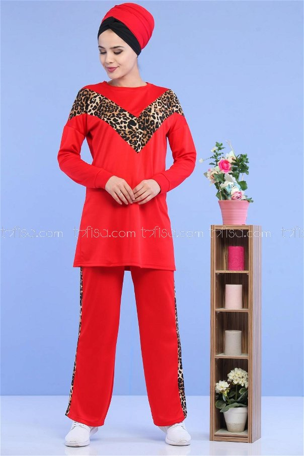 Tunic Pant Leopard Red - 02 6997
