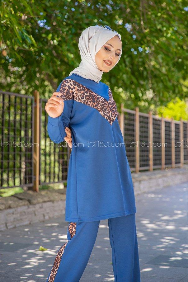 Tunic Pant Leopard Sax - 02 6997