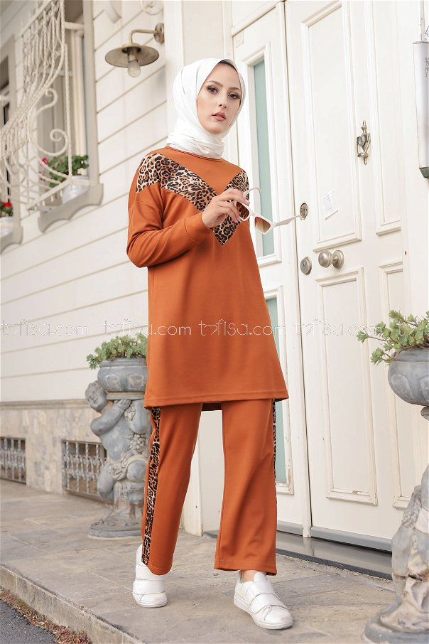 Tunic Pant Leopard Tan - 6997