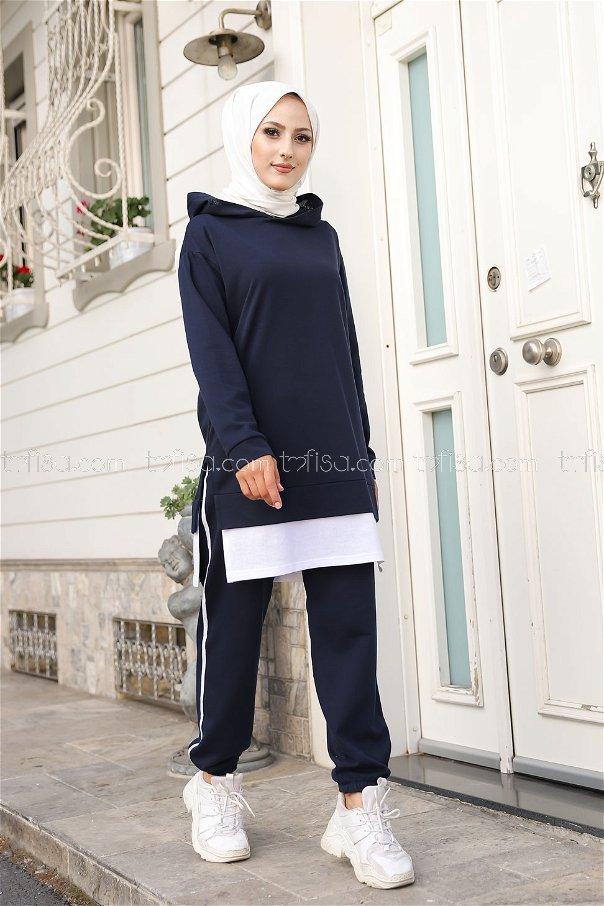 Tunic Pant Navy Blue - 8330