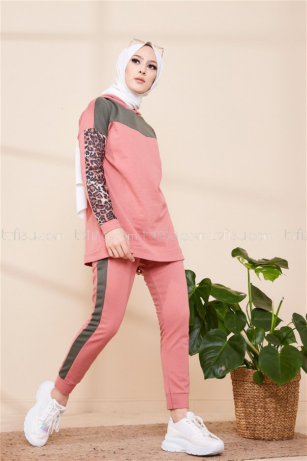 Tunic Pant Pink Khaki - 3095