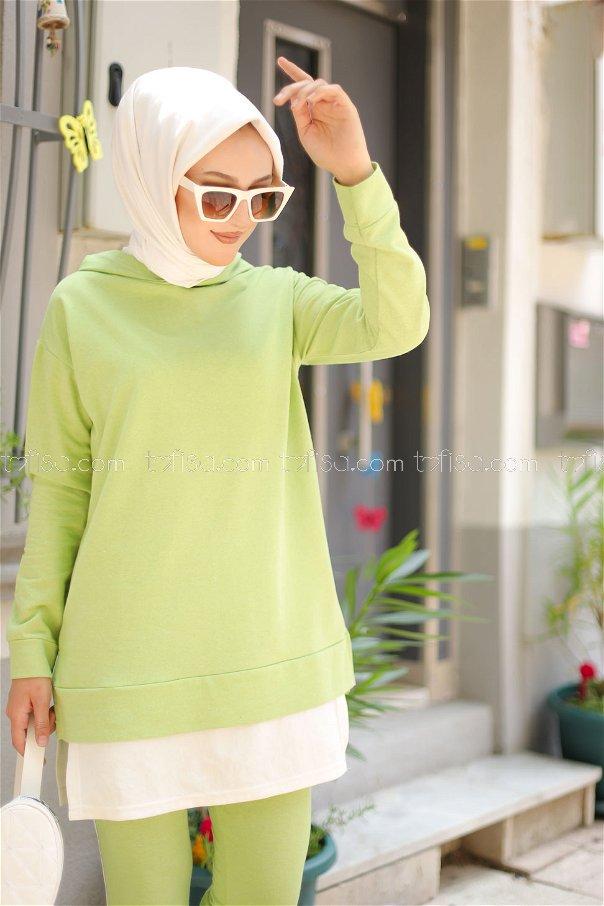Tunic Pant Pistachio Green - 8330