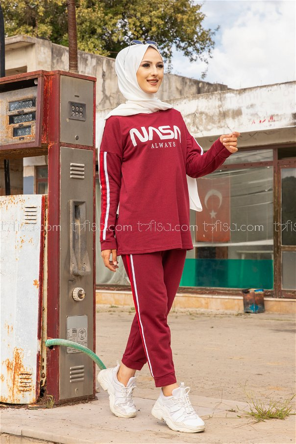 Tunic Pants Claret Red - 4141
