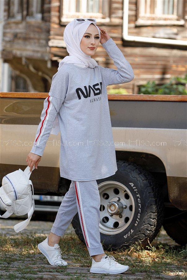 Tunic Pants Grey - 4141
