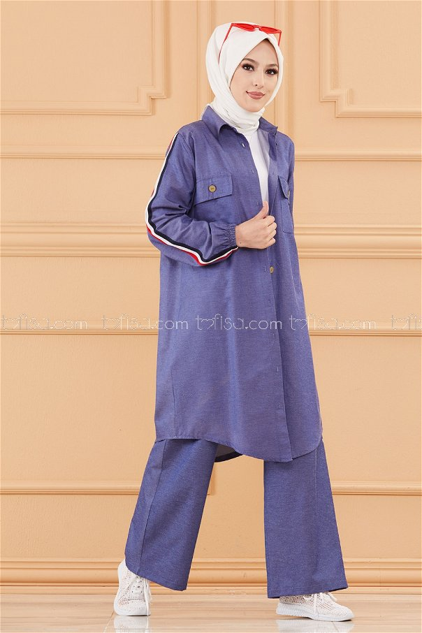 Tunic Pants NAVY BLUE - 3656