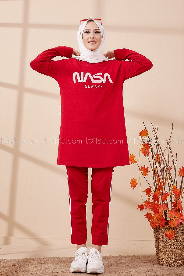Tunic Pants Red - 4141