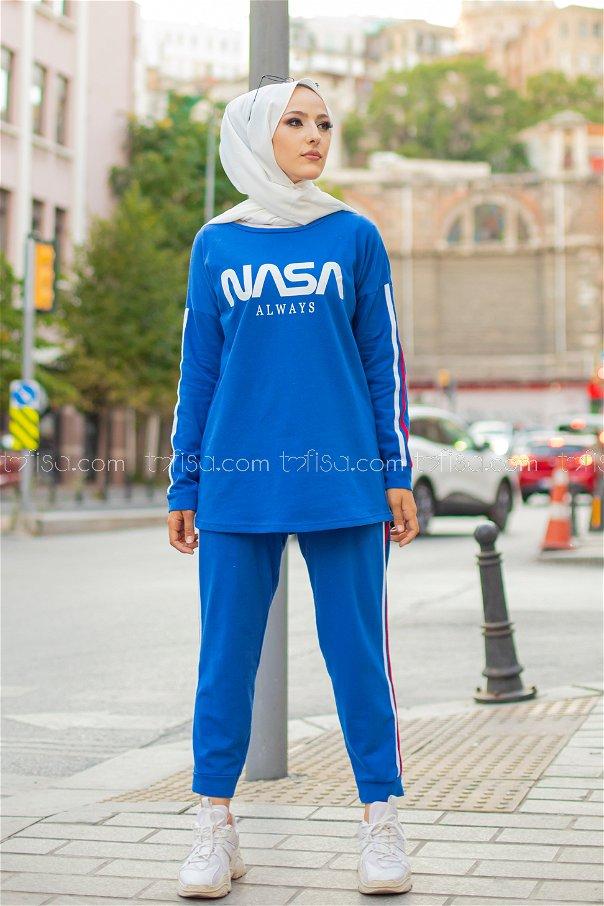 Tunic Pants Sax Blue - 4141