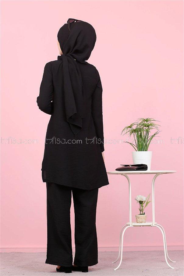 Tunic Pants Wrap Black - 3030