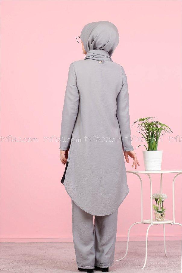 Tunic Pants Wrap Grey - 3043