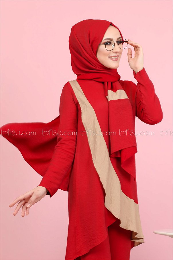 Tunic Pants Wrap Red - 3043
