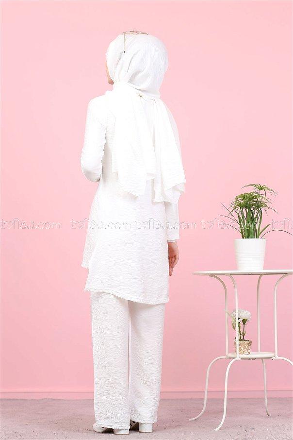 Tunic Pants Wrap White - 3030
