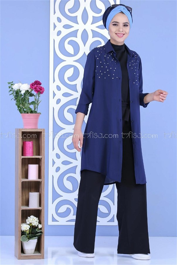 Tunic pearl navy blue - 02 6841
