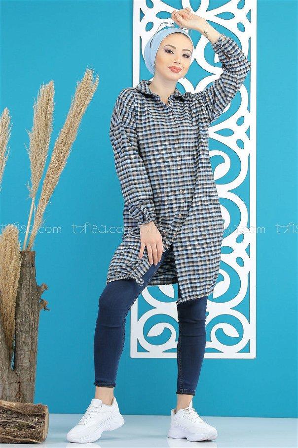 Tunic Plaid black blue - 7853