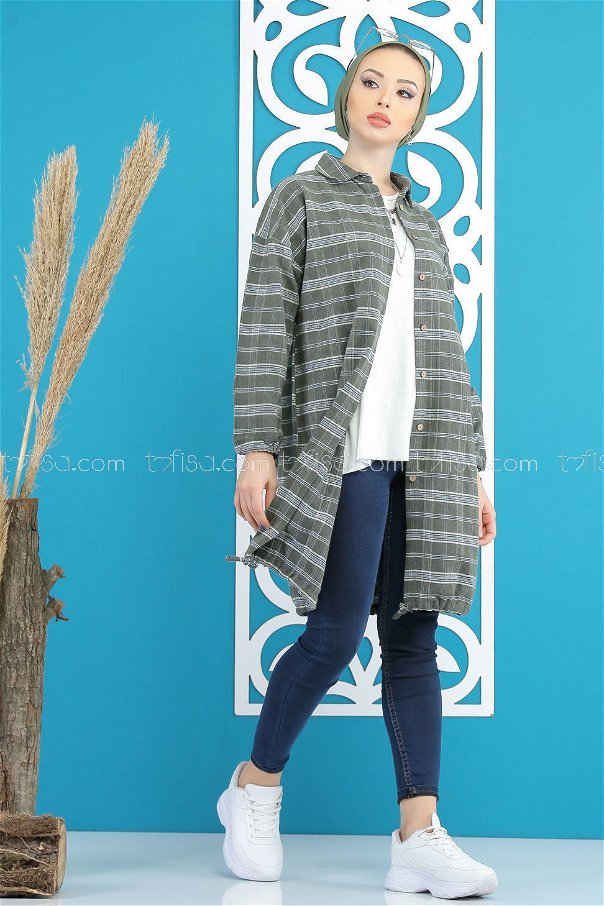 Tunic Plaid khaki - 7852