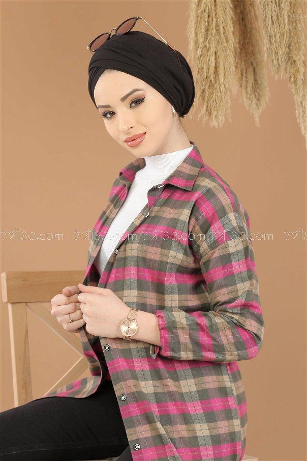 Tunic Plaid khaki mink - 8287