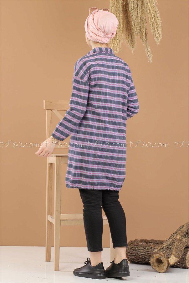 Tunic Plaid striped Pink 8285