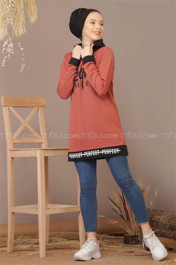 Tunic printed Hooded rose - 7928