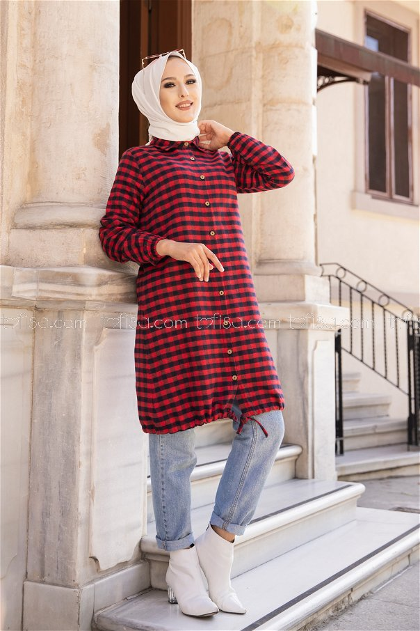 Tunic Red Navy Blue - 3294