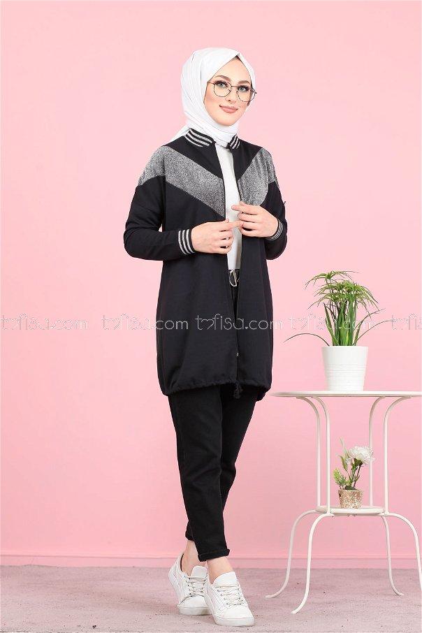 Tunic Silvery Black - 8220