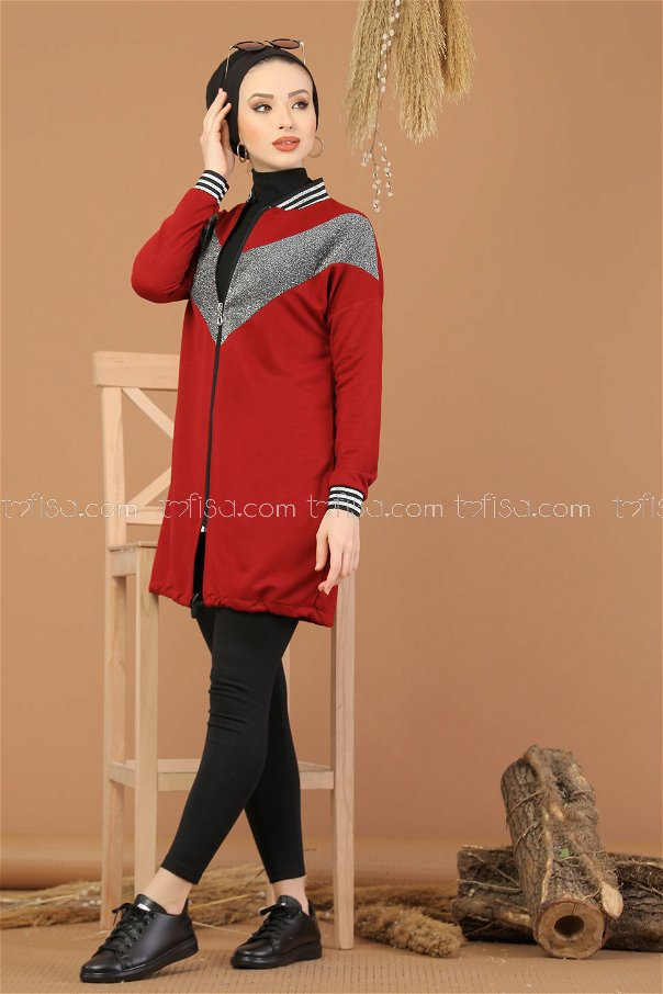 Tunic Silvery claret red - 8220