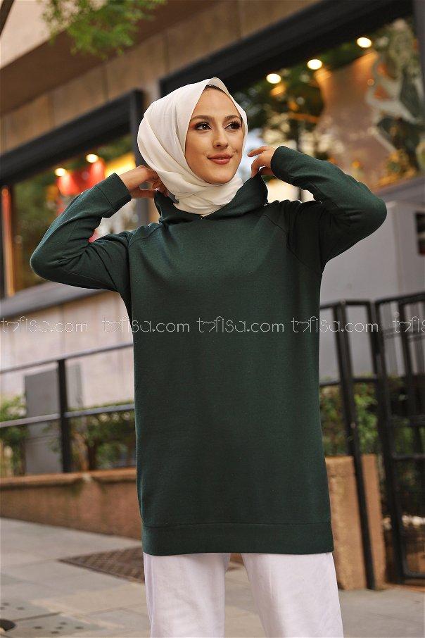 Tunic Sleeve Striped Dark Emerald - 2828