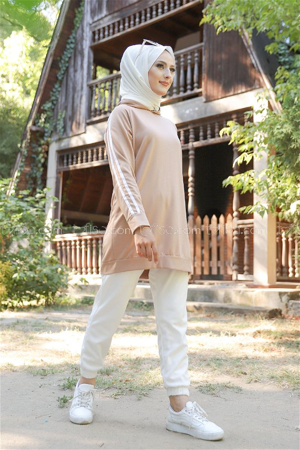 Tunic Sleeve Striped Mink - 2828