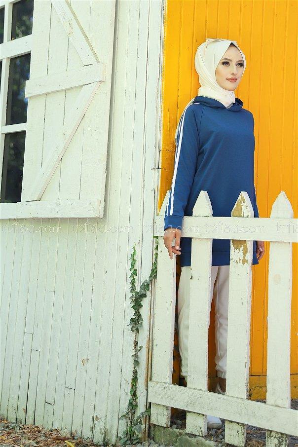 Tunic Sleeve Striped Oil- 2828
