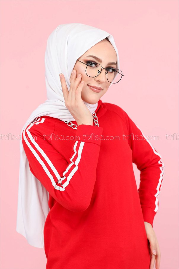 Tunic Sleeve Striped Red - 2828