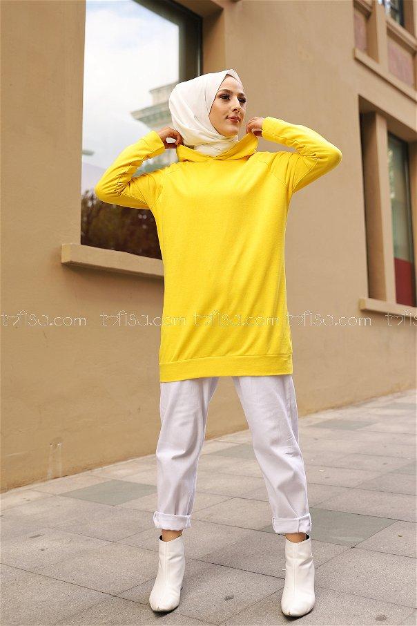 Tunic Sleeve Striped Yellow - 2828