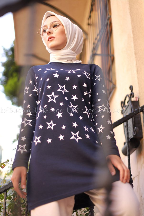 Tunic Star Printed Black - 8385