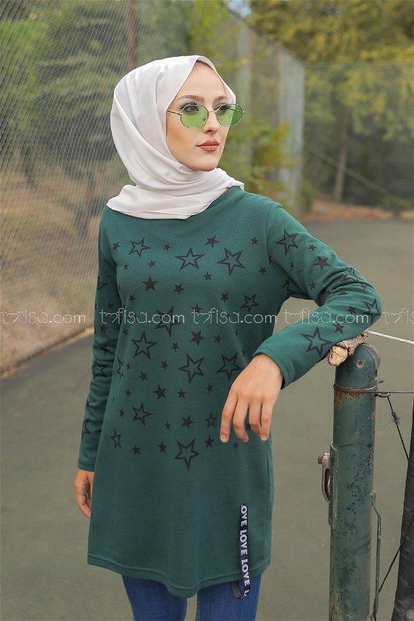 Tunic Star Printed Emerald - 8385