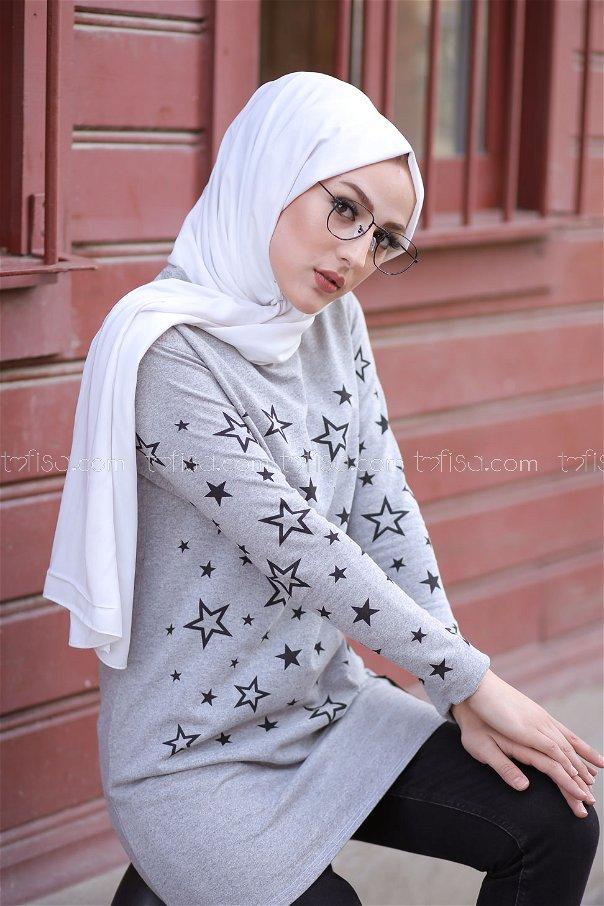 Tunic Star Printed Grey - 8385