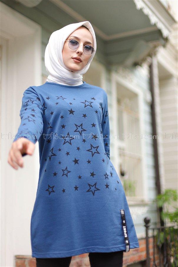 Tunic Star Printed Indigo - 8385