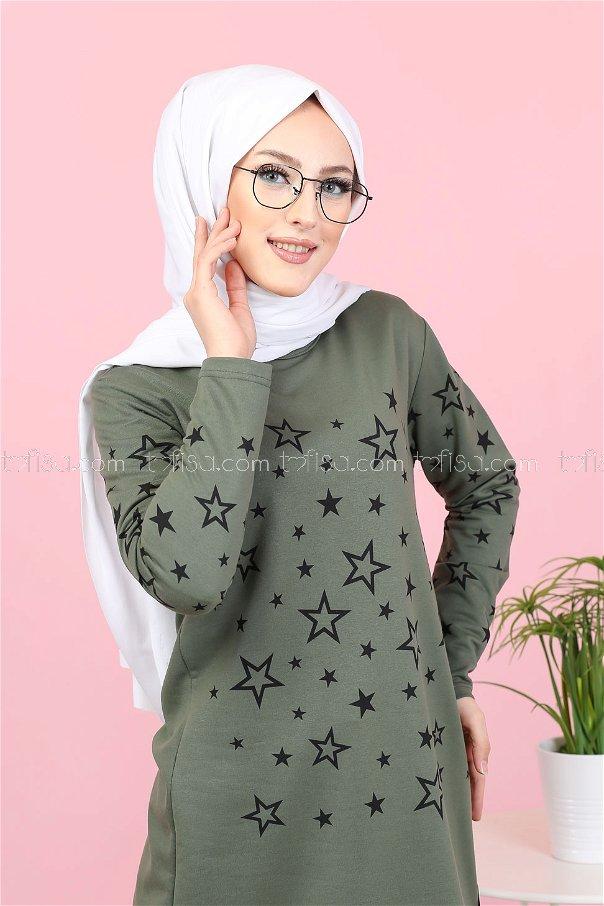 Tunic Star Printed Khaki - 8385