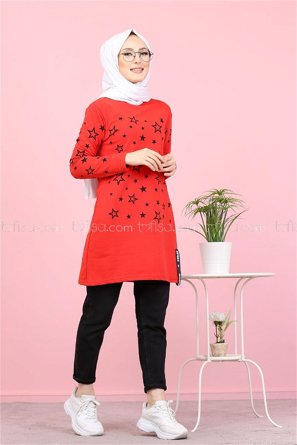 Tunic Star Printed Red - 8385