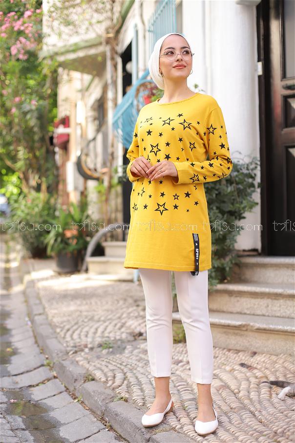 Tunic Star Printed Yellow - 8385