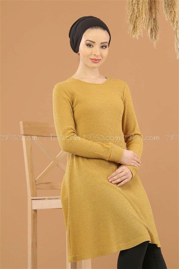 Tunic striped Mustard - 8281