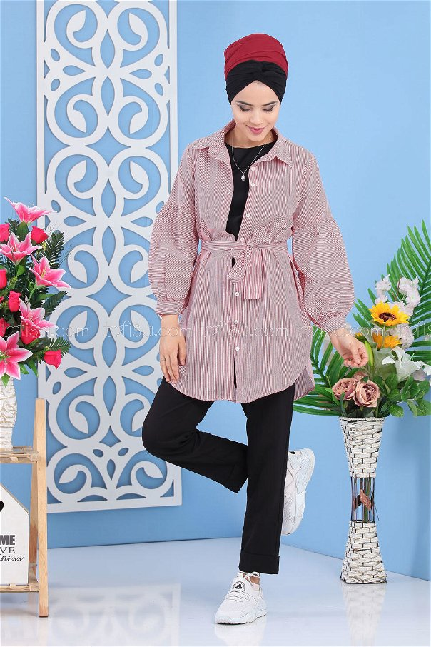 Tunic Striped red - 02 7278