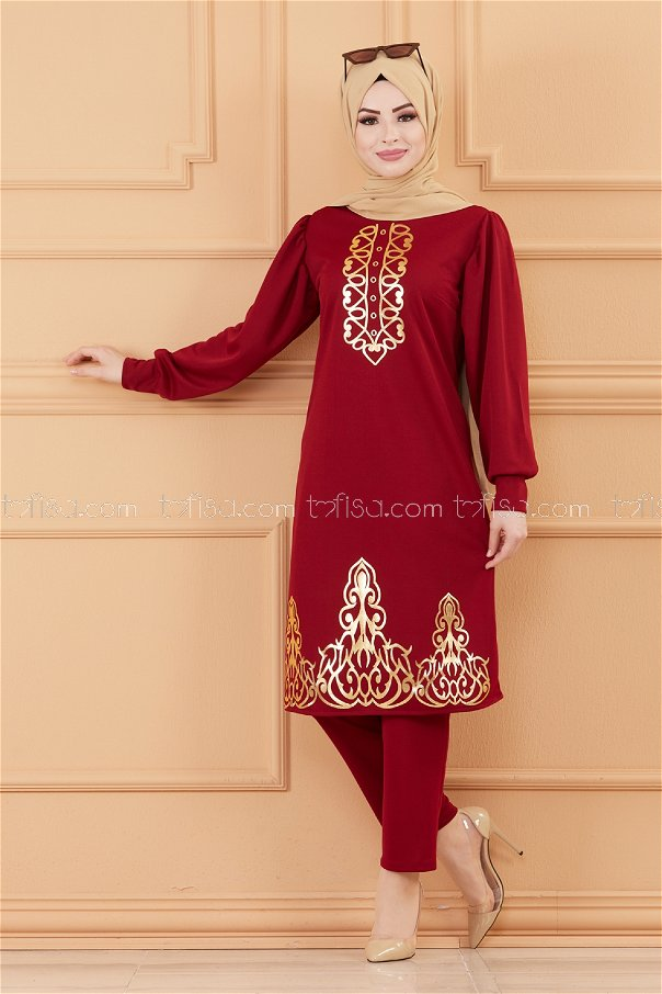 Tunic Trousers Claret RED - 3645