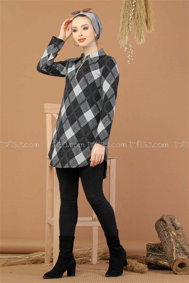 Tunic Zipped gray - 5246