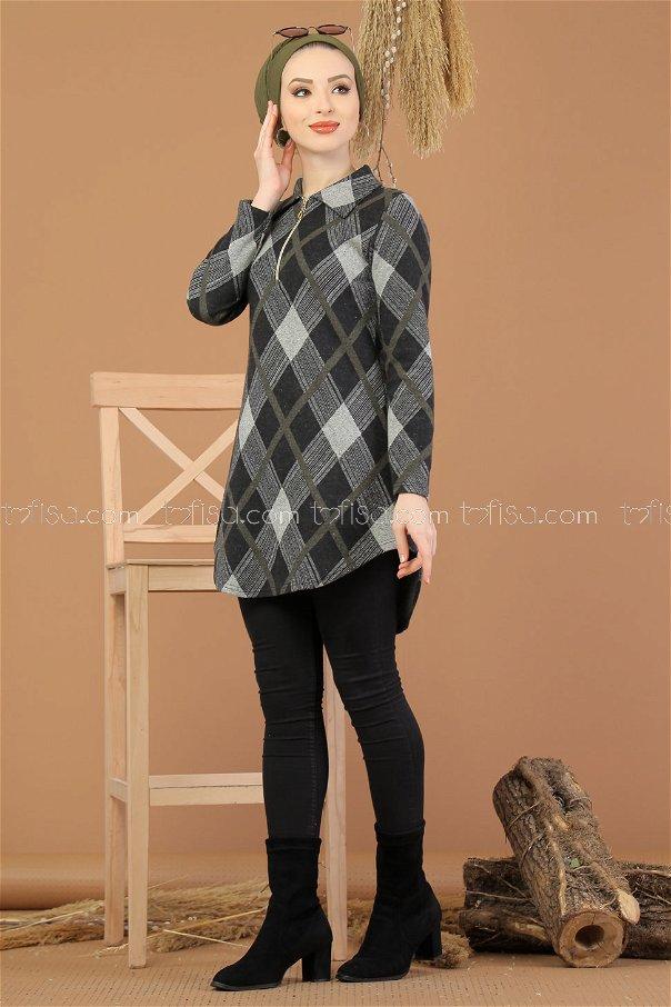 Tunic Zipped khaki - 5246