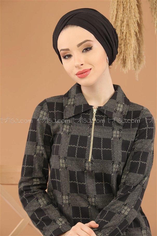 Tunic Zipper khaki - 5247