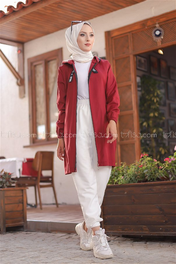 Tunic Zippered Claret Red - 3038