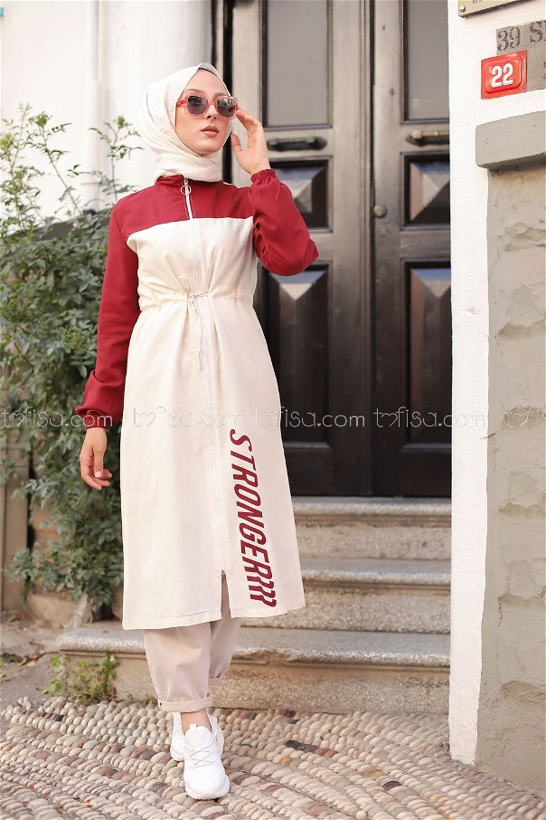 Tunic Zippered Claret Red - 3069