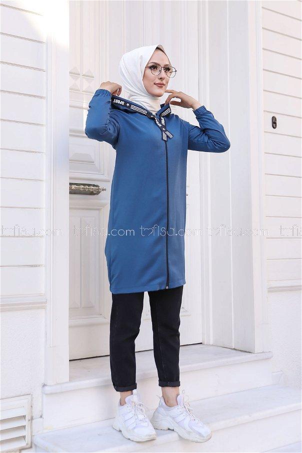 Tunic Zippered Indigo - 3038