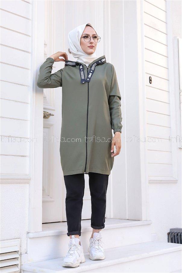 Tunic Zippered Khaki - 3038
