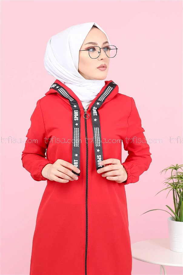 Tunic Zippered Red - 3038