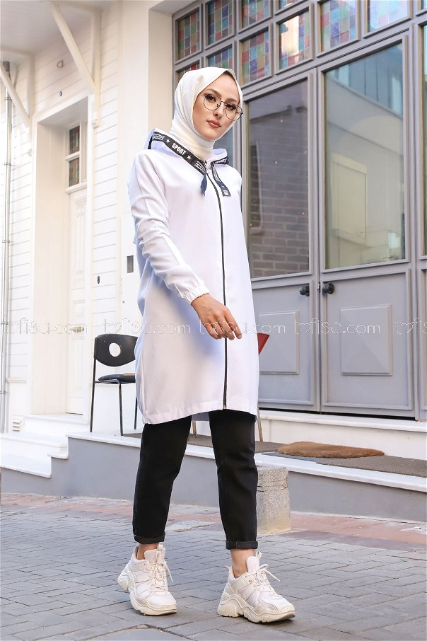 Tunic Zippered White - 3038